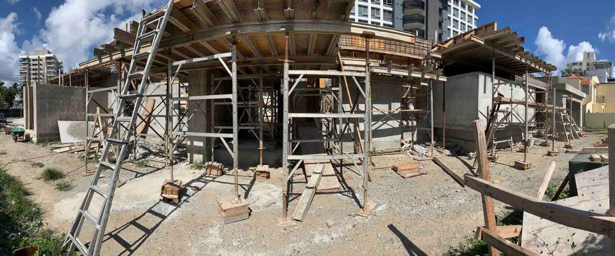 Panoramic view of one of an AD&V project under construction.