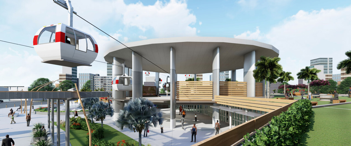 Render of the Teleferic Transit Station by AD&V.