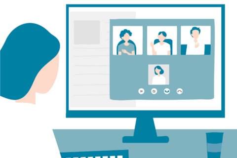 Illustration of a video call.