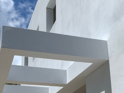 Construction site closeup of Condado Residence project by AD&V.