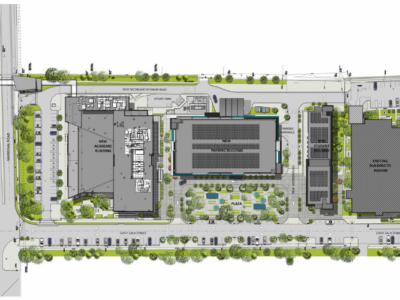 Main image of PHSU siteplan by AD&V.