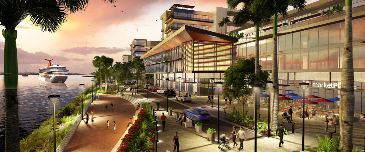 Conceptual image of our upcoming Waterfront Project design.