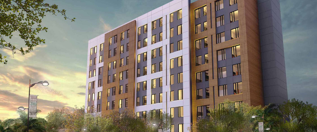 Render of Residence Inn by Marriott project by AD&V.