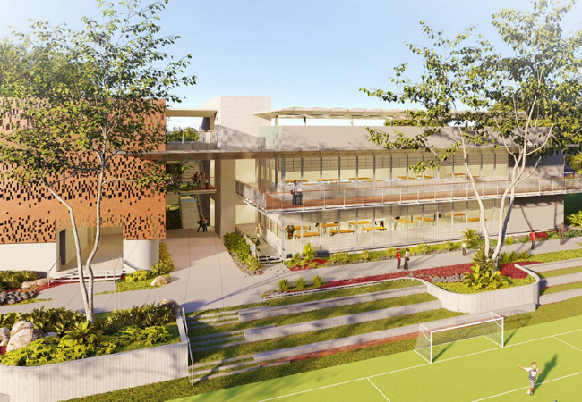 Render of Baldwin Innovation Center by AD&V.