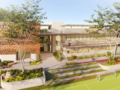 AD&V Render of the Bird's Eye View of the Baldwin School of PR Innovation Center