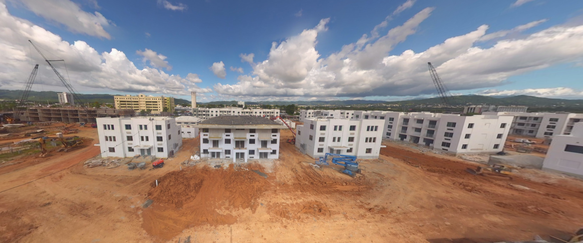 View of the Caguas Mix-Use & Elderly Housing construction site