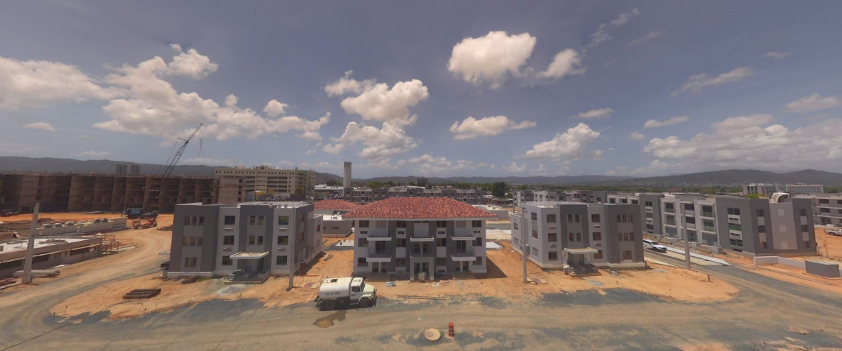 View of the Caguas Mix-Use & Elderly Housing construction site.
