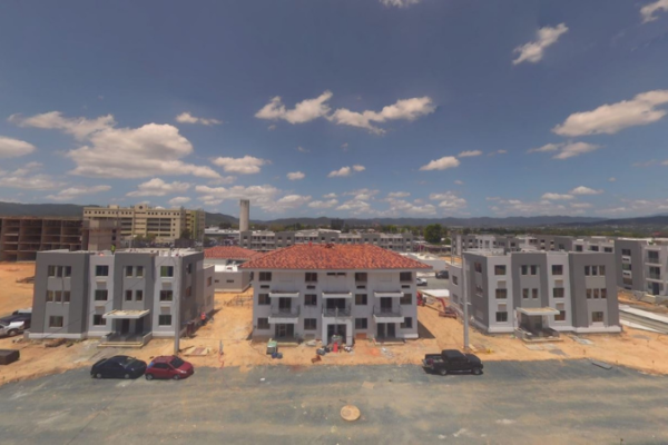 Exterior panoramic view of the Caguas Mix-Use & Elderly Housing project.